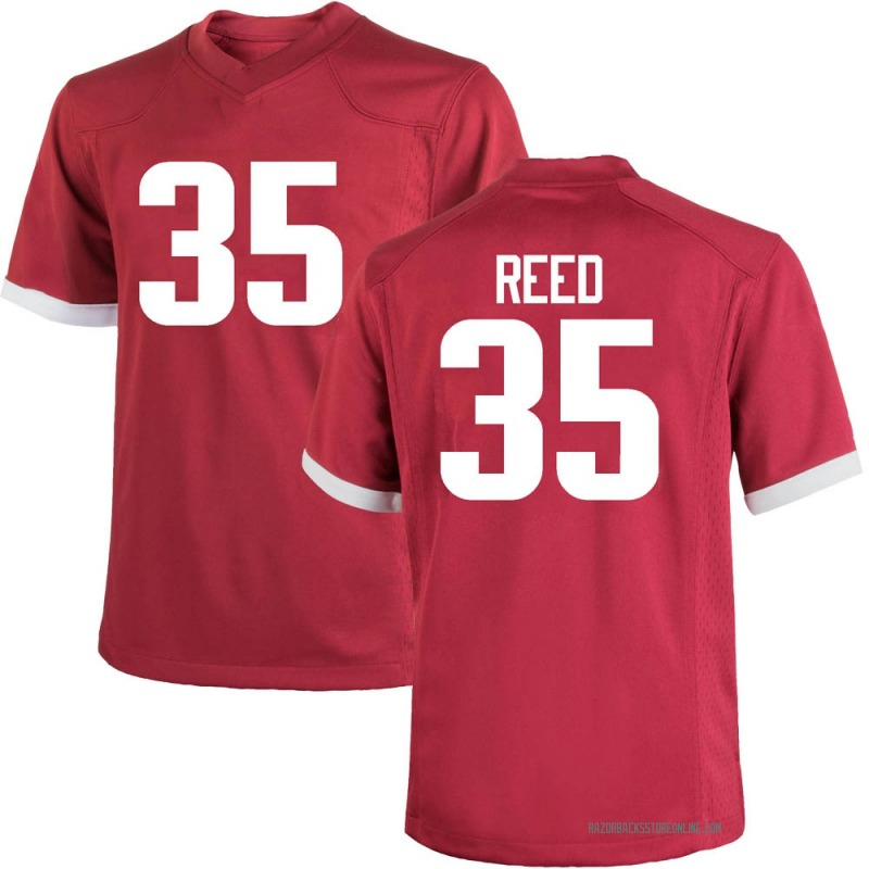 Game Men's AJ Reed Arkansas Razorbacks Cardinal Football College Jersey