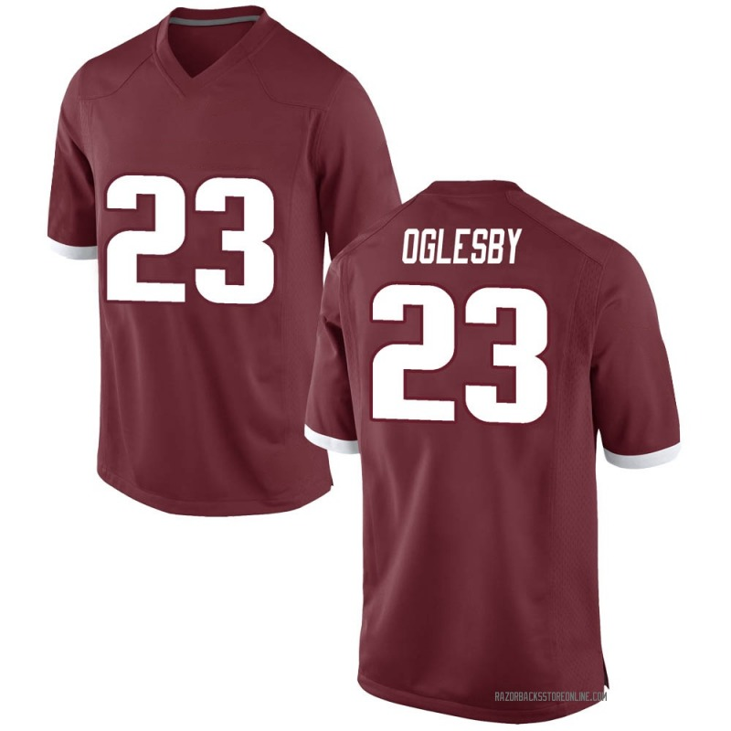 Game Men's Josh Oglesby Arkansas Razorbacks Red Football College Jersey