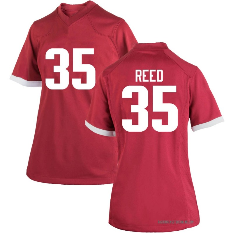 Game Women's A.J. Reed Arkansas Razorbacks Cardinal Football College Jersey