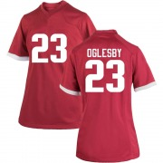 Replica Women's Josh Oglesby Arkansas Razorbacks Cardinal Football College Jersey