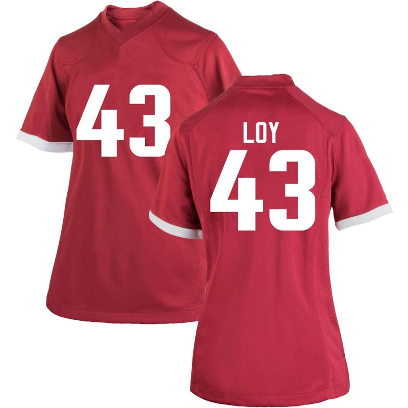 Replica Women's Sam Loy Arkansas Razorbacks Cardinal Football College Jersey